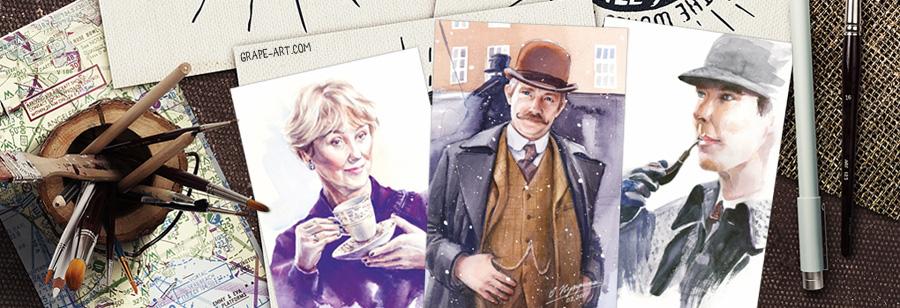 открытка почтовая шерлок сито